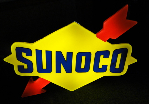 4' Lighted Sunoco Gas Sign