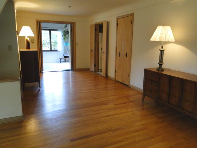 Dining room with hardwood flooring